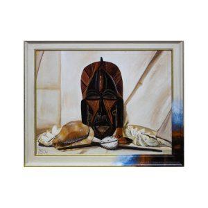 Maske Afrika mit Muscheln