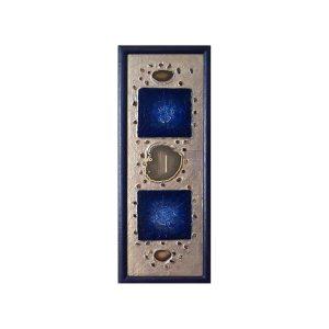 Objekt Blau mit Achatscheiben