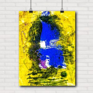 Blau auf gelb 2