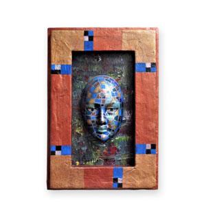 Maske Mosaik Fantasie